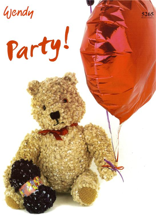Wendy Party Knitted Teddy Bear Knitting Pattern 5265